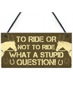 Horse Stable Signs And Plaques Funny Gift For Horse Lovers Girls