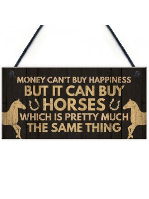 Novelty Horse Accessories Gifts For Girls Women Stable Door Sign