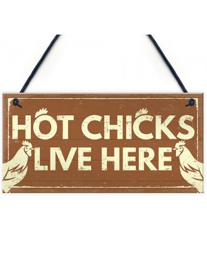 Funny Novelty CHICKEN Sign For Coop House Pet Bird Animal Hen