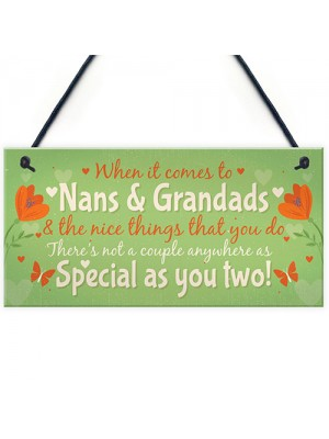 Gifts For NAN And GRANDAD Hanging Plaque Thank You Gift Keespake