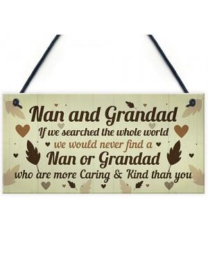 Gifts For Nan And Grandad Birthday Christmas Plaque Keepsakes