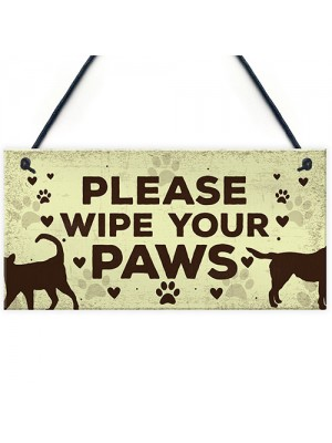 Animals Welcome Sign Hanging Plaque Dog Signs For Home Sign