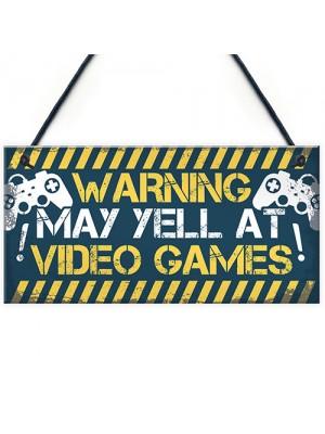 Gaming Door Sign Funny Gaming Gifts Novelty Birthday Gift Idea