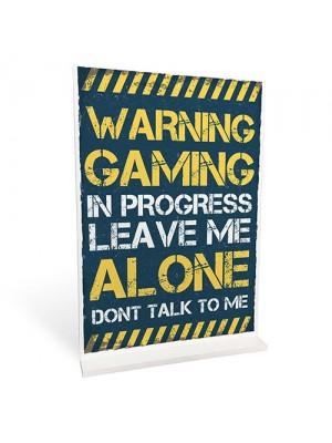 Warning Gaming In Progress Gamer Boys Bedroom Standing Plaque