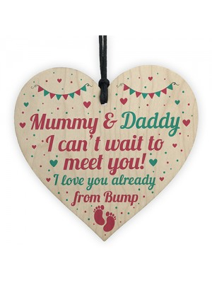 From Bump Gift Mummy To Be Gifts Daddy To Be Gifts Wood Heart