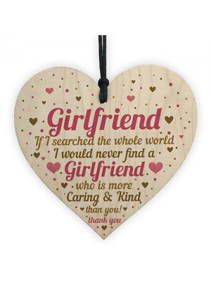 Valentines Gift For Her Girfriend Anniversary Card Heart Plaque