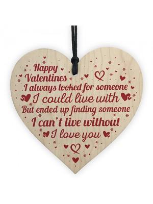Boyfriend And Girlfriend Gifts Wood Heart Valentines Gift