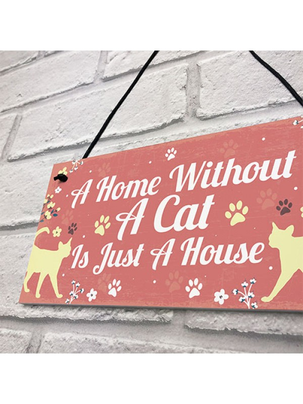 Cat Signs For Home Funny Cat Gift For Cat Lovers Novelty Decor