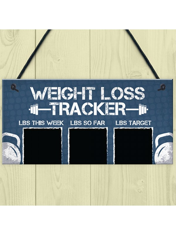 Chalkboard Weight Loss Countdown Tracker Sign Weight Watchers
