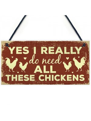 Funny Chicken Sign For Chicken Lovers Novelty Sign For Chicken