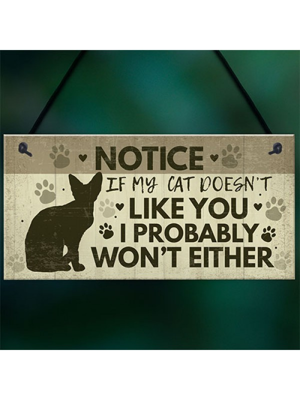 FUNNY Cat Sign For Home Hanging Plaque Funny Pet Sign For Cat