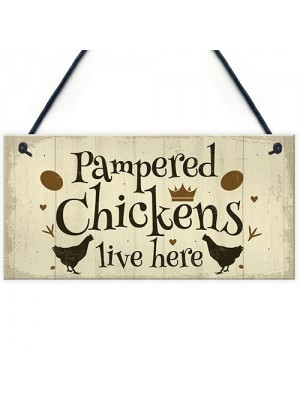 Chicken Coop Sign Outdoor Garden Plaque Hanging Door Wall Sign