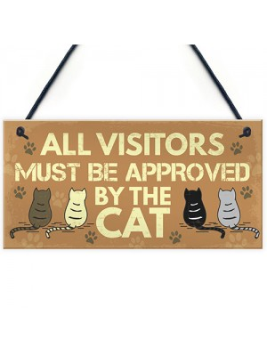 Cat Sign For Home Funny Hanging Plaque Funny Pet Sign Gift