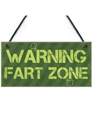 WARNING FART ZONE Funny Man Cave Sign Gaming Gift For Men Him