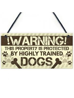 Beware Of The Dog Gate Sign Do Not Enter Dog Plaque Dog Sign