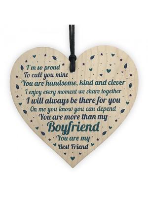 Boyfriend Relationship Gifts Wooden Heart Keepsake Gift For Him
