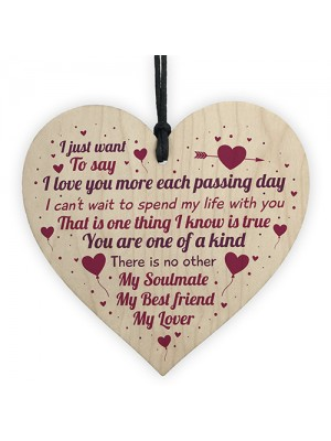 Soulmate Best Friend Valentines Relationship Gift Heart Keepsake