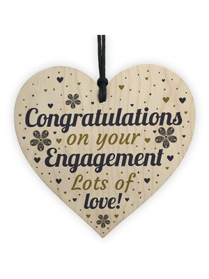 Engagement Gifts Card Wood Heart Wedding Gifts Party Decorations