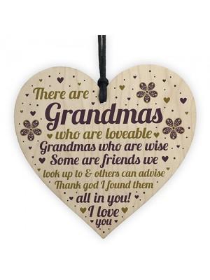 Grandma Gifts Wooden Heart Grandma Decoration THANK YOU Gifts