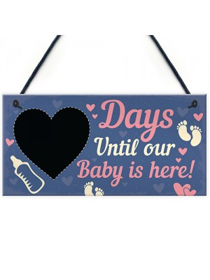 Chalkboard Countdown To Birth Sign Baby Shower Gift Mum To Be