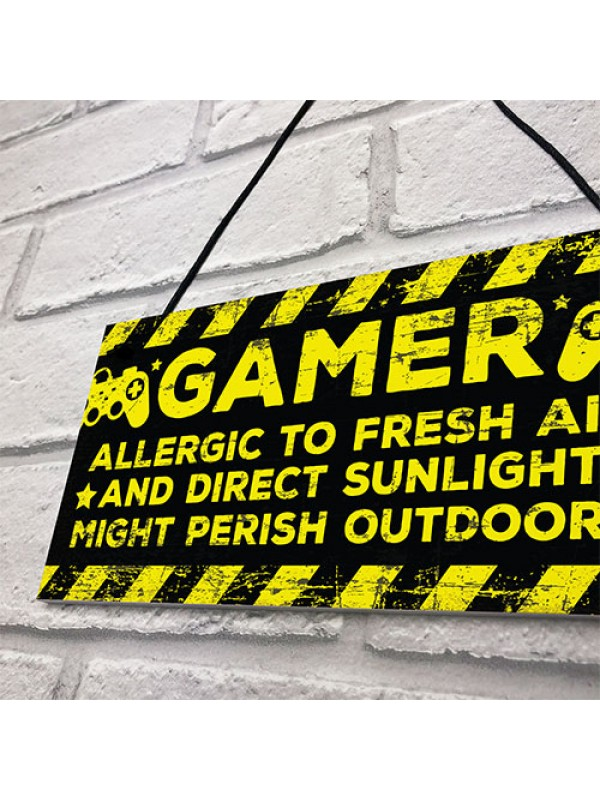 Gaming Bedroom Accessories Room Sign Novelty Birthday Gamer Gift