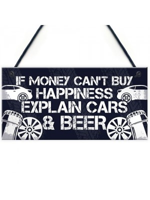 Beer Car Lover Gifts For Men Man Cave Garage Sign Birthday Gifts