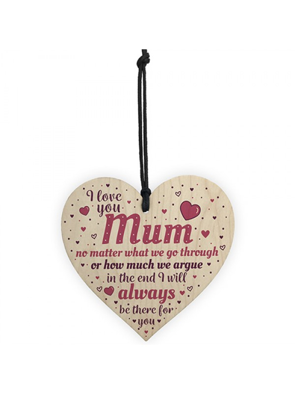 MOTHERS DAY Gift Mum Gifts From Daughter Son Wooden Heart