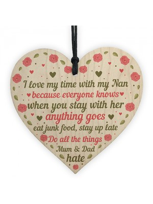 SPECIAL Birthday Thank You Gifts For Nan Wooden Heart Gifts