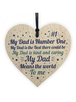FATHERS DAY Gift For Daddy Dad Heart Daddies Girl Gift Birthday