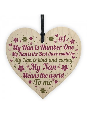 Gifts For Nan Wooden Heart Birthday Thank You Gifts For Nan