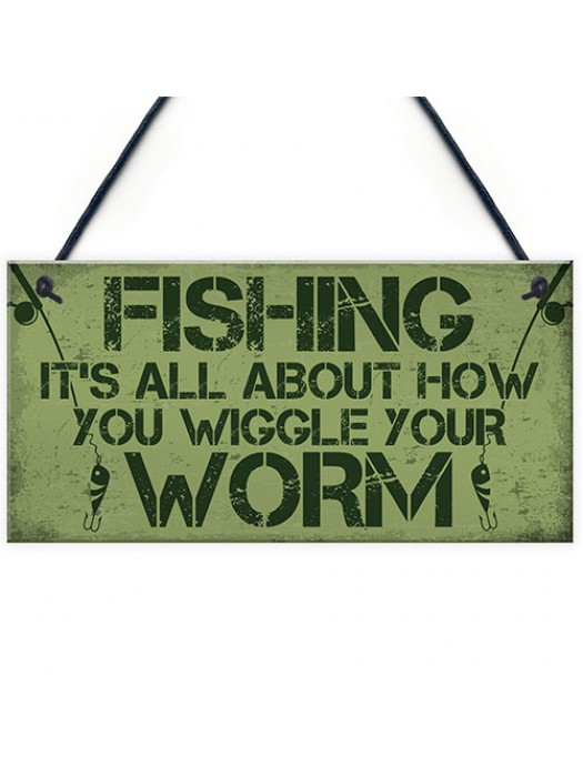 Gone Fishing Sign Plaque Funny Fishing Gifts For Men Man Cave