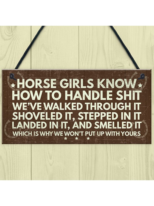 Horse Signs Funny Plaque Horse Sign For Bedroom Signs Gifts