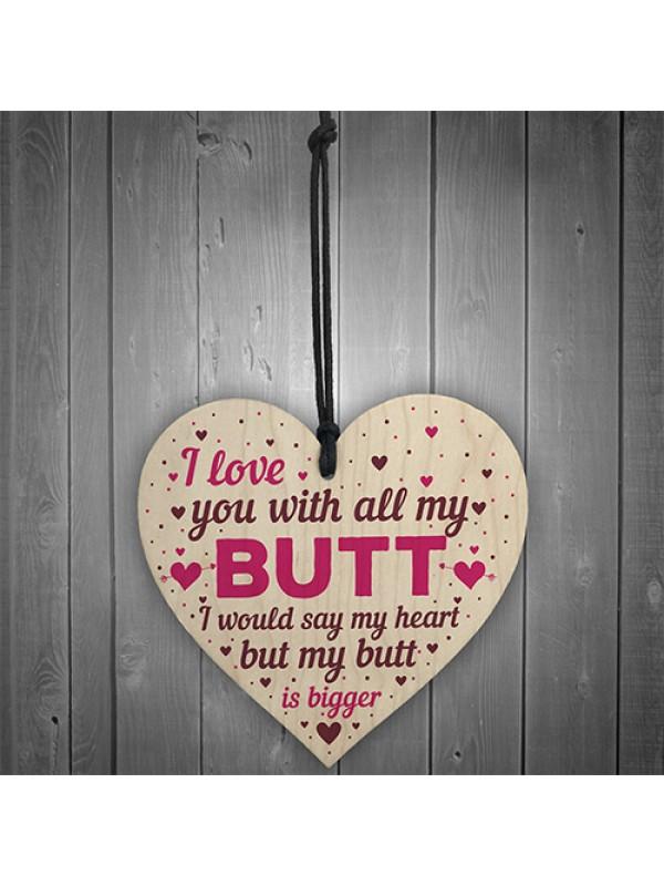 Boyfriend Anniversary Card Wooden Heart Valentines Day Gifts