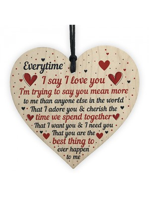 I Love You Plaque Heart Special Anniversary Valentines Day Gift