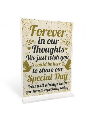 Wedding Memory Memorial Table Decoration Standing Plaque