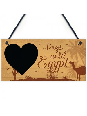 Chalkboard Holiday Countdown To EGYPT Novelty Holiday Travel