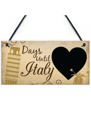 Chalkboard Holiday Countdown To ITALY Novelty Holiday Sign Gifts