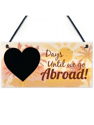 Chalkboard Holiday Countdown Abroad USA New York Turkey Spain
