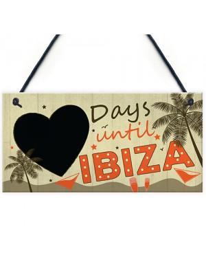 CHALKBOARD Countdown Holiday Ibiza Hanging Plaque Friendship