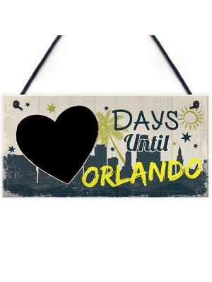 Chalkboard Holiday Countdown To ORLANDON America Novelty Gift