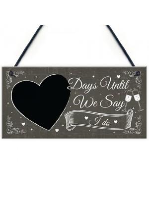 CHALKBOARD Days Until Wedding Decoration Hanging Plaque Decor