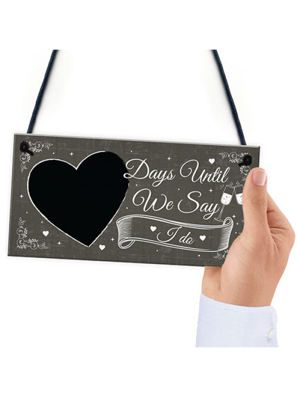 CHALKBOARD Days Until Wedding Decoration Hanging Plaque Decor