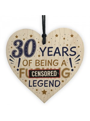 30th Birthday Gifts For Women Men Friend Wood Heart Decorations