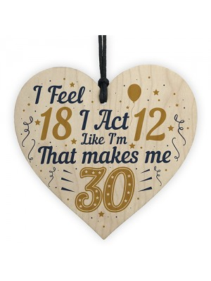 30th Birthday Decorations Funny Novelty Gifts Card For Family