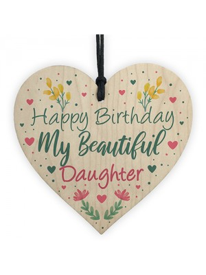 Daughter Birthday Cards Wood Heart Daughter Gift Daughter Plaque