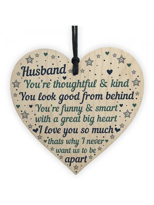 Husband Anniversary Cards Heart Husband Birthday Gift THANK YOU