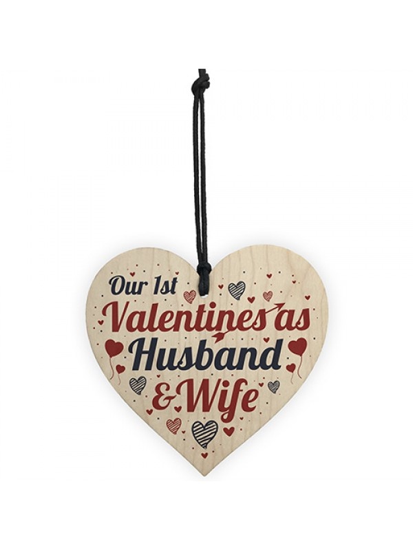 1st Valentines As Husband Wife Valentines Day Card For Wife