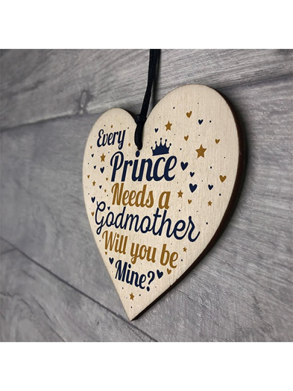Birthday Christening Godmother Gift Heart Godmother Request Card