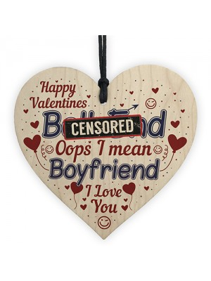 Novelty Funny Rude Valentines Cards For Boyfriend Heart Gift