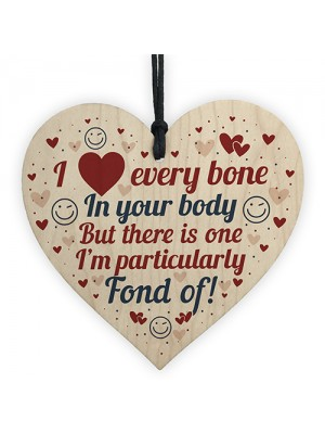 Rude Valentines Gift For Boyfriend Husband Wood Heart Funny Gift